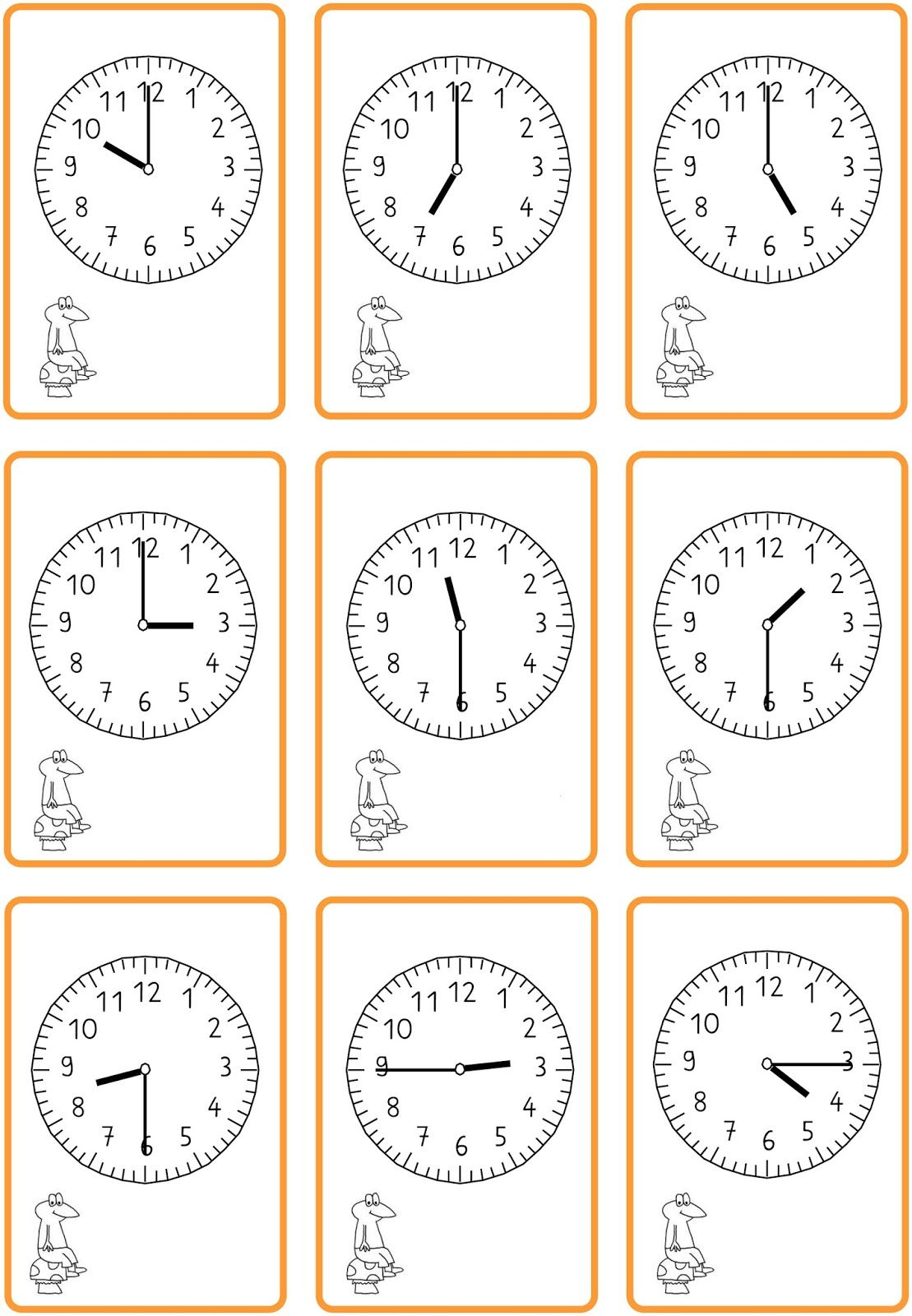 Lernstübchen: Uhrzeiten lesen - schwarzer Peter | Zeit in der Schule ...
