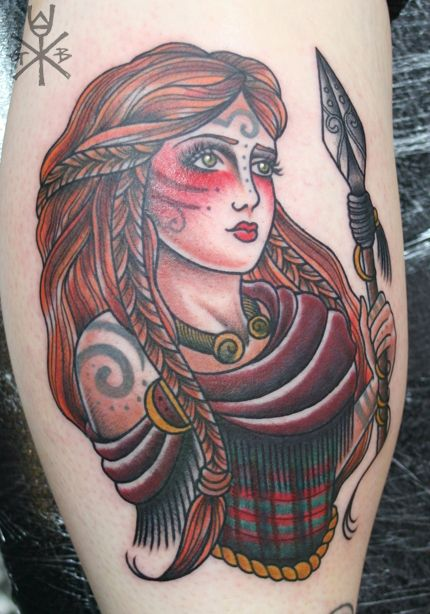 Curious etchings boudicca on my good friend amanda for Neo pagan tattoos