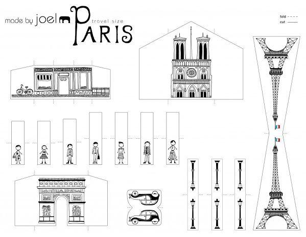una ciudad recortable paper pictures pinterest papier paris et mini paris. Black Bedroom Furniture Sets. Home Design Ideas
