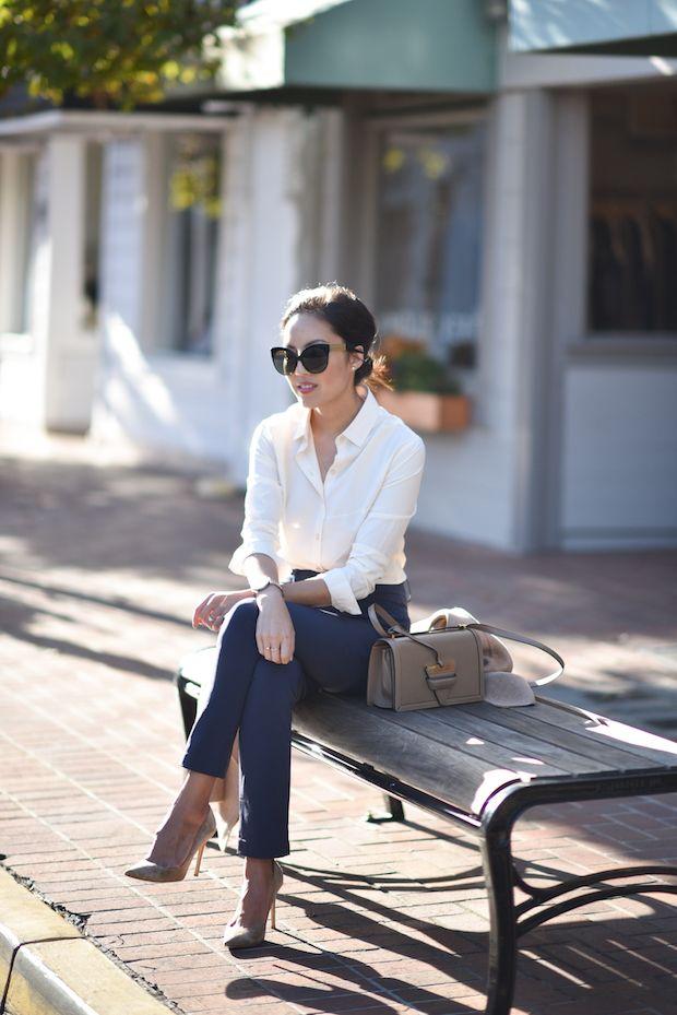 f5e391118c58 Classic | Moda y mas... | Pantalón azul, Pantalon azul marino ...