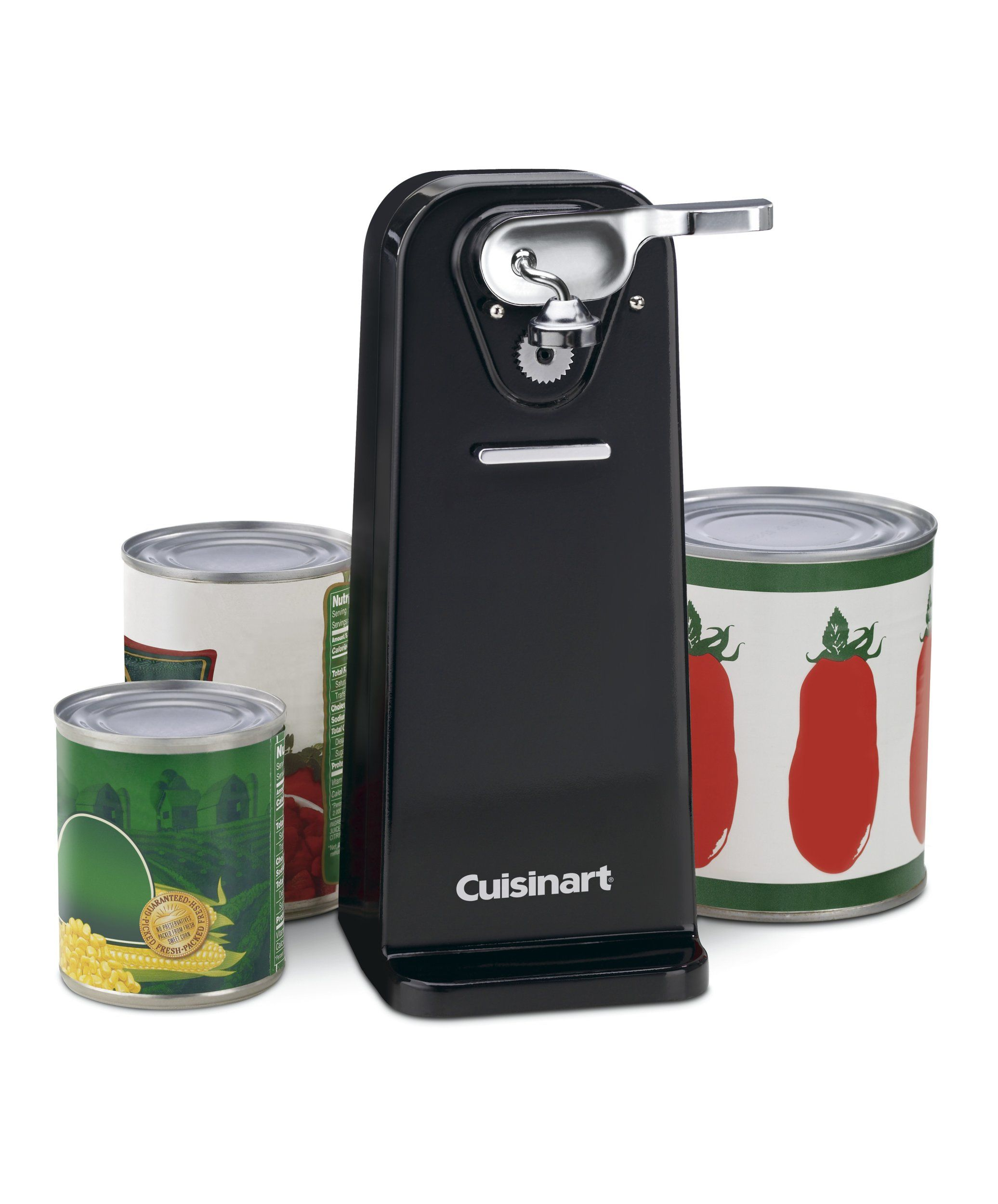 Electric Can Opener Stainless Steel Brushed Edge Touch Commercial Kitchen Tools