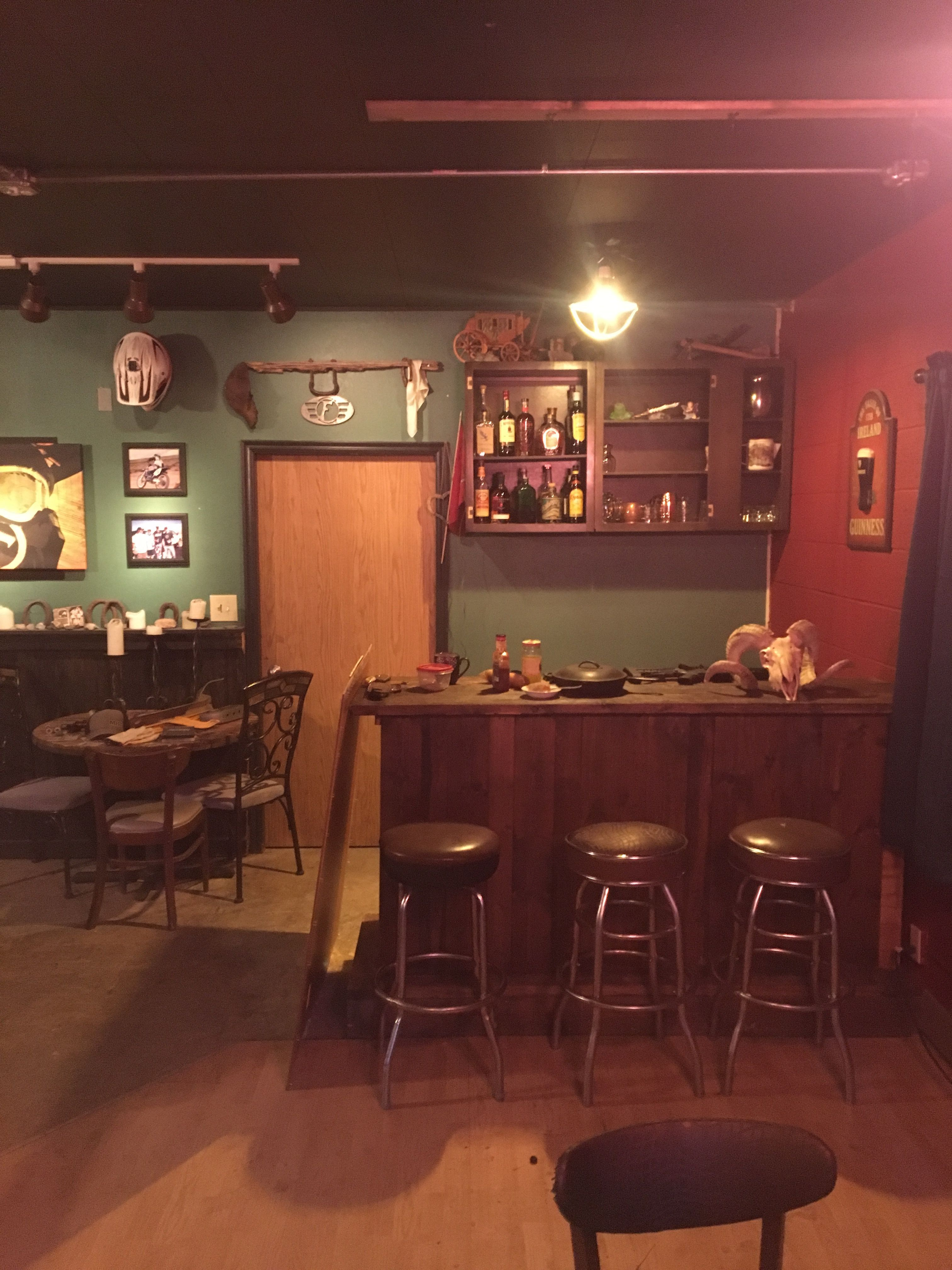 Fort Bridger Saloon #gypsysetup Before we repurposed a giant narnia closet. Simple as can be.