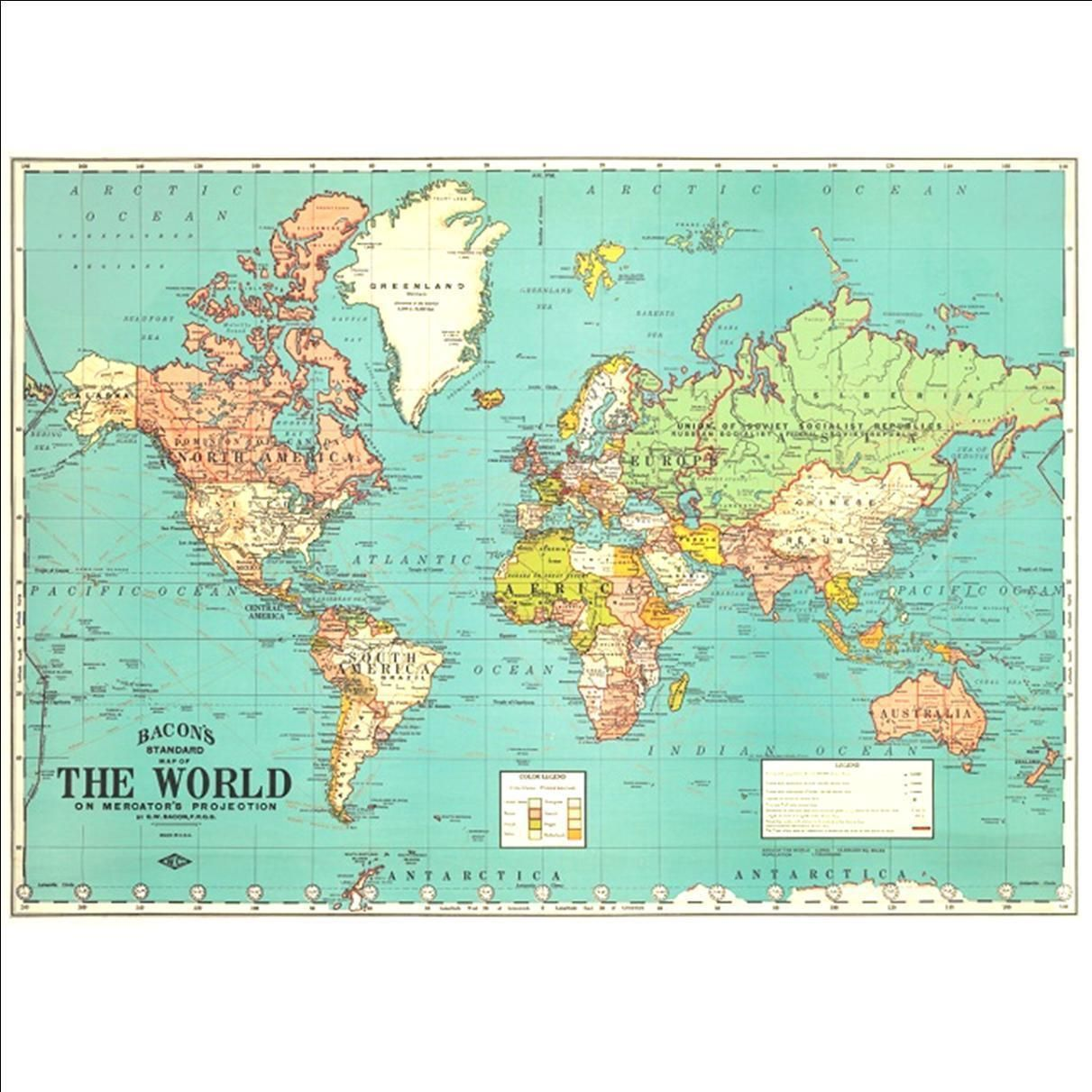 Mark in one colour where child has travelled and another colour vintage world map poster gumiabroncs Image collections
