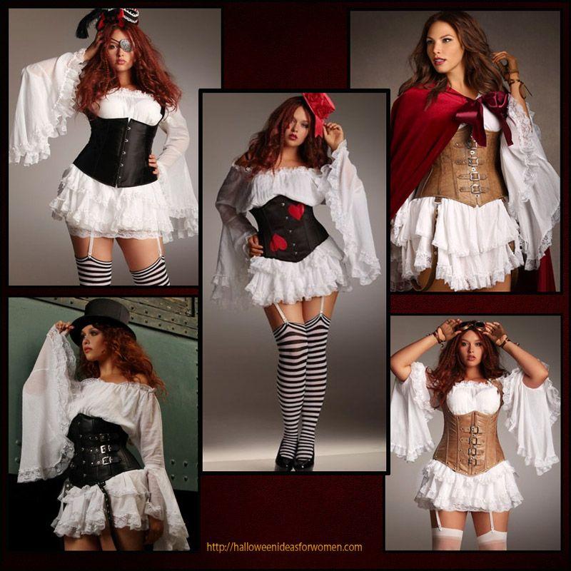Love these Romantic Plus Size Corset Costumes! http ...