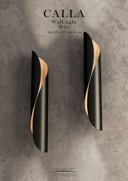 Calla Black Wall Light Designer Monzer Hammoud Pont Des
