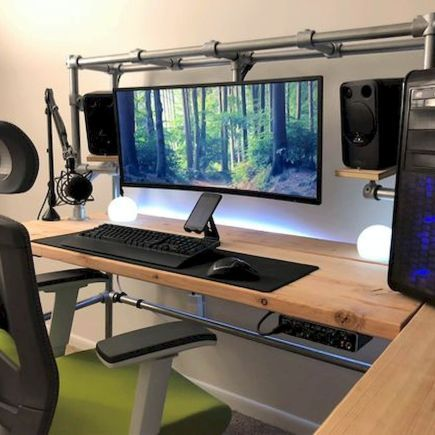 60 Magical Diy Computer Desk Gaming Design Ideas And Decor 16 Diy Computer Desk Gaming Desk Computer Desk Setup