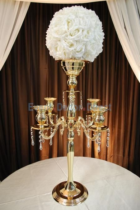 The Juliet 30 4 Arm Candelabra W Flower Bowl Soft Gold By Decostar