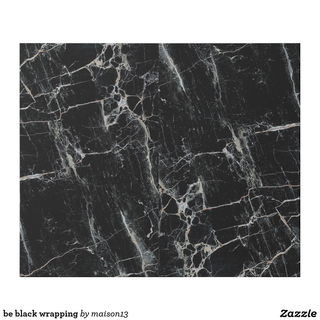 be black wrapping wrapping paper | Zazzle.com