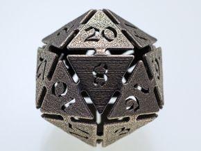 Big die 20 / d20 32mm / dice set in Stainless Steel