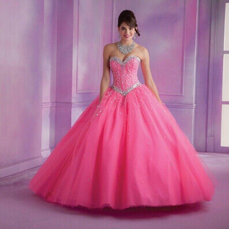 2017 de Encaje Hasta vestido de bola de quinceanera vestidos de ...