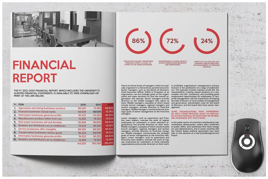Red Business Brochure Ad Adobe Package Working Indesign