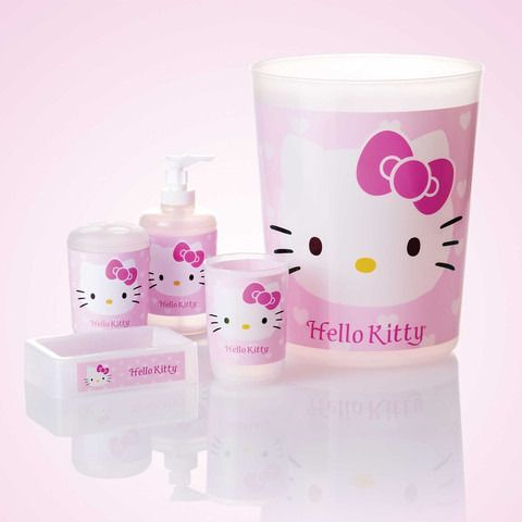 Hello Kitty Bathroom Set In Pink With