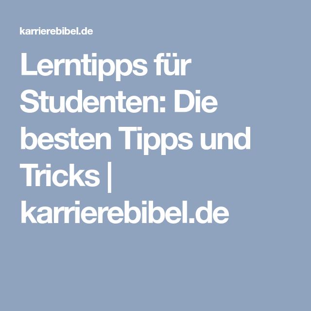 Lerntipps für Studenten: Die besten Tipps und Tricks | karrierebibel.de