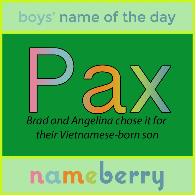 One of the variations of names meaning peace that are ...
