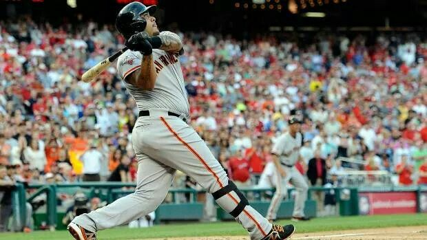 Two homers for Hector Sanchez including a Grand Slam. April 23, 2014