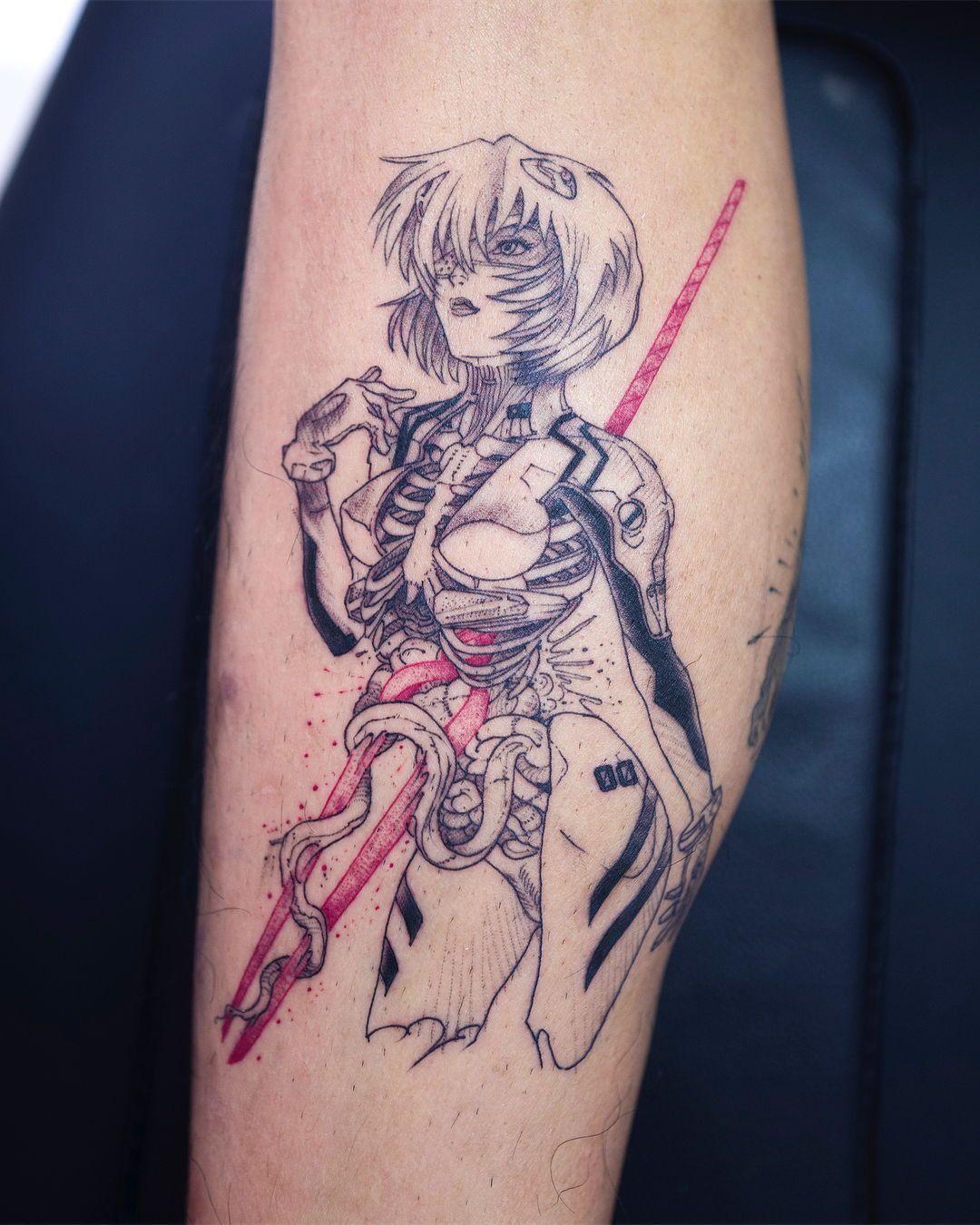 Tattoo Artist Oozy South Korean Tattoo Artist Oozy Tattoo Artwoonz Evangelion Tattoo Korean Tattoo Artist Tattoo Artists