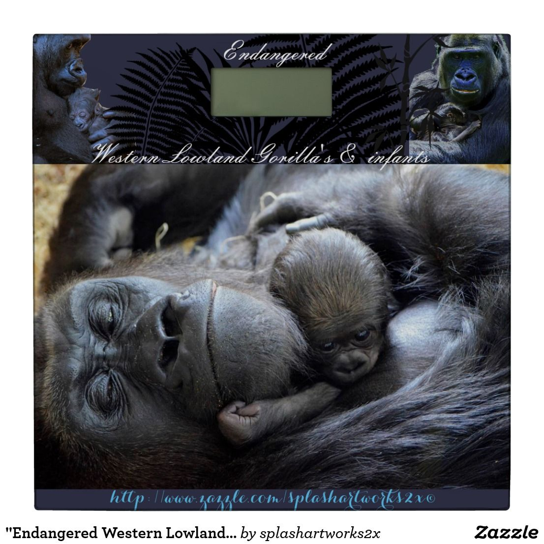 """Endangered Western Lowland Gorilla's"" Bathroom Scale"