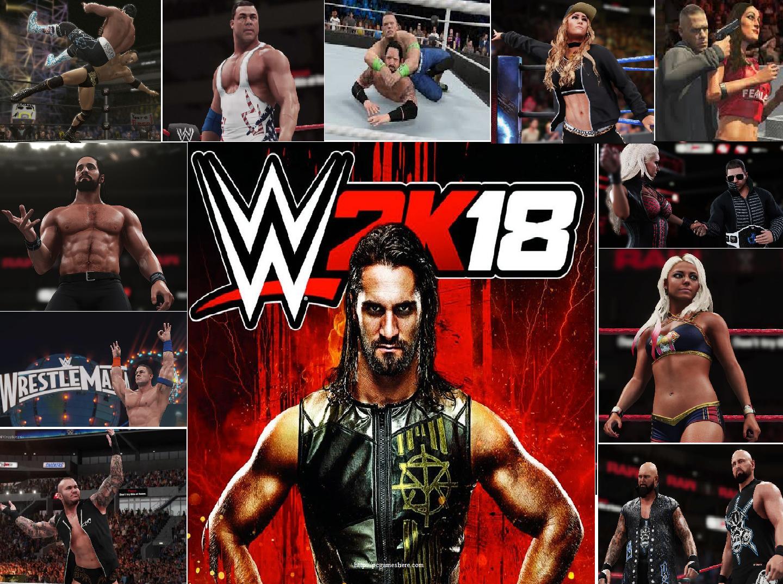 Wwe 2k18 Pc Download A Simulation Wrestling Fighting Action Game Game Download Free Wwe Game Download Download Games