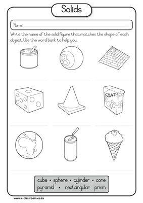 Worksheets Solid Figures Worksheets solid figures worksheet 3d shapes worksheets 17 best images about math geometry on pinterest the shape math