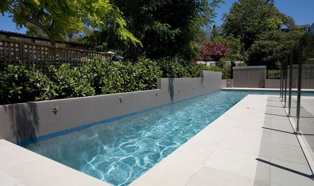 Want A Chic Lap Pool A Pool Side Sunken Living Room Is All You
