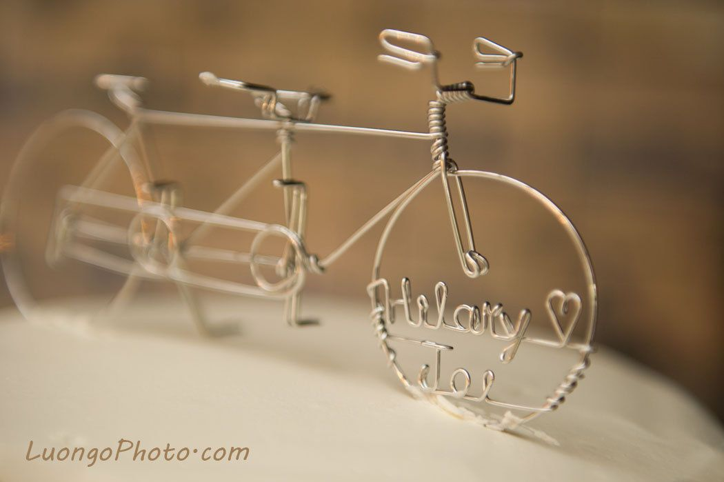 In Tandem Personalized Bike Wedding Cake Topper 50 00 Via Etsy Nic