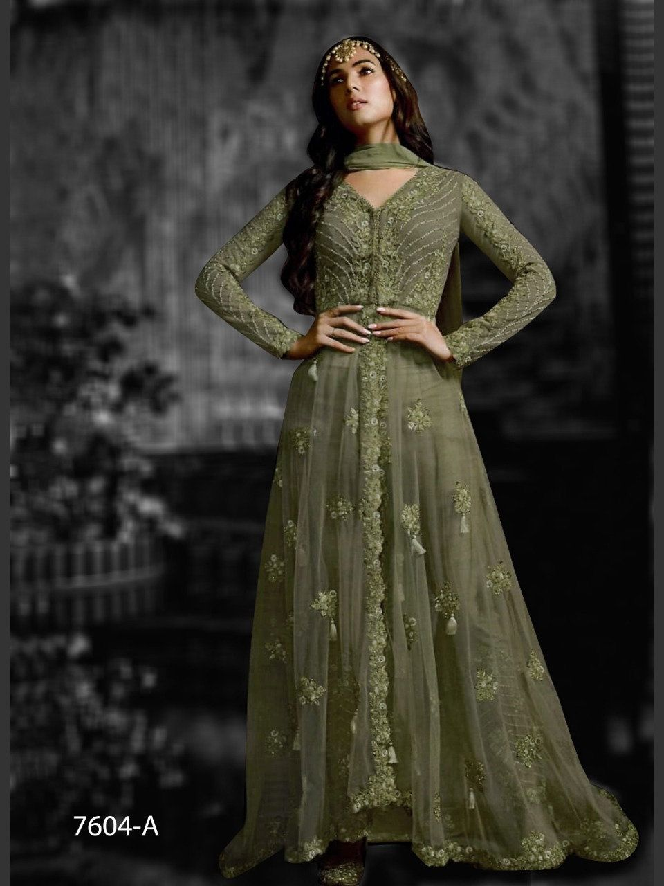 Designer Ethnic Gown Anarkali Salwar Kameez Wedding Indian Pakistani Party Dress