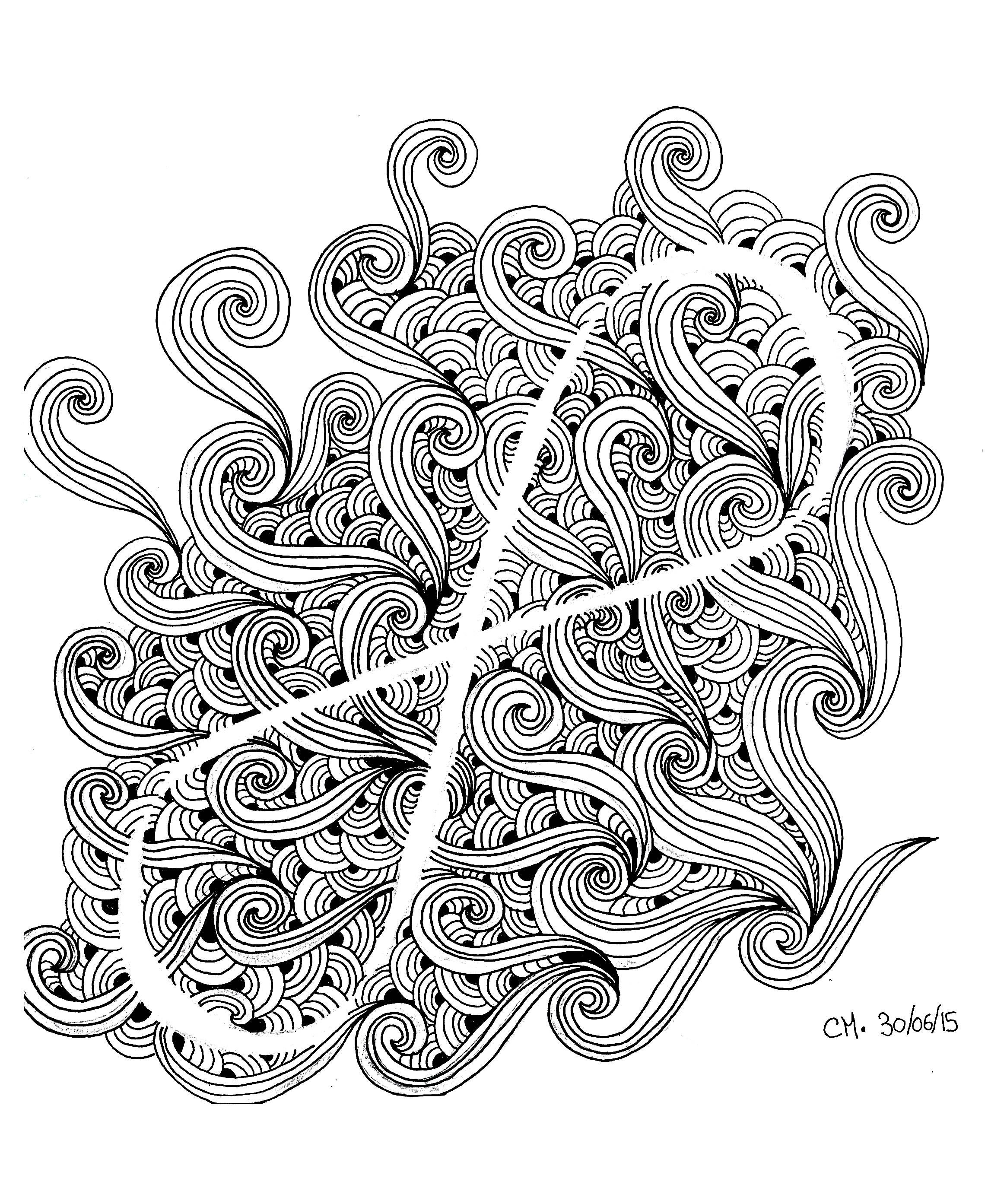 Infini Doodle Exclusive Zentangle Coloring Page See The Original WorkFrom Gallery ZentangleArtist Cathy M