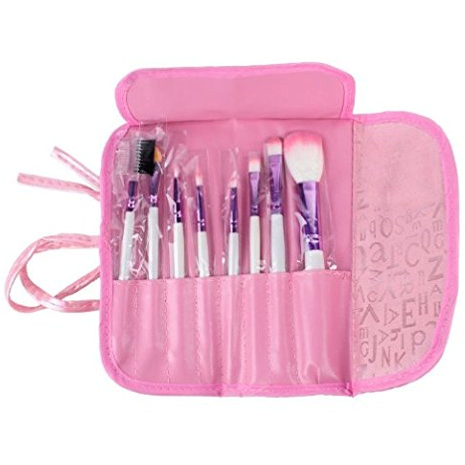 32 piece Set Make Up Brushes with Pouch Bag, Pink Boutique