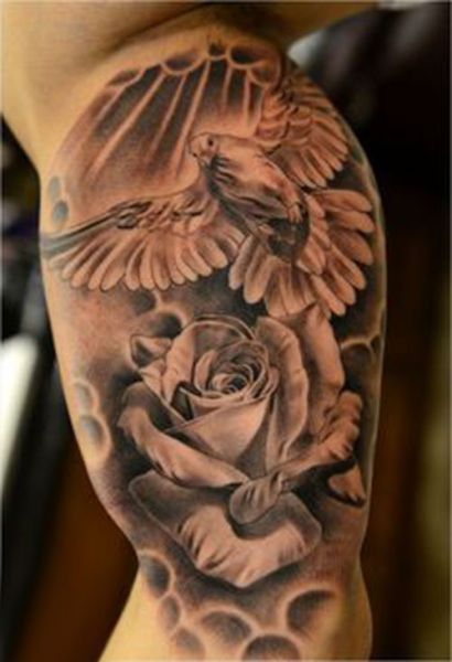 dove and rose tattoo tattoos pigeon tattoo dove tattoos i dove rose tattoo. Black Bedroom Furniture Sets. Home Design Ideas