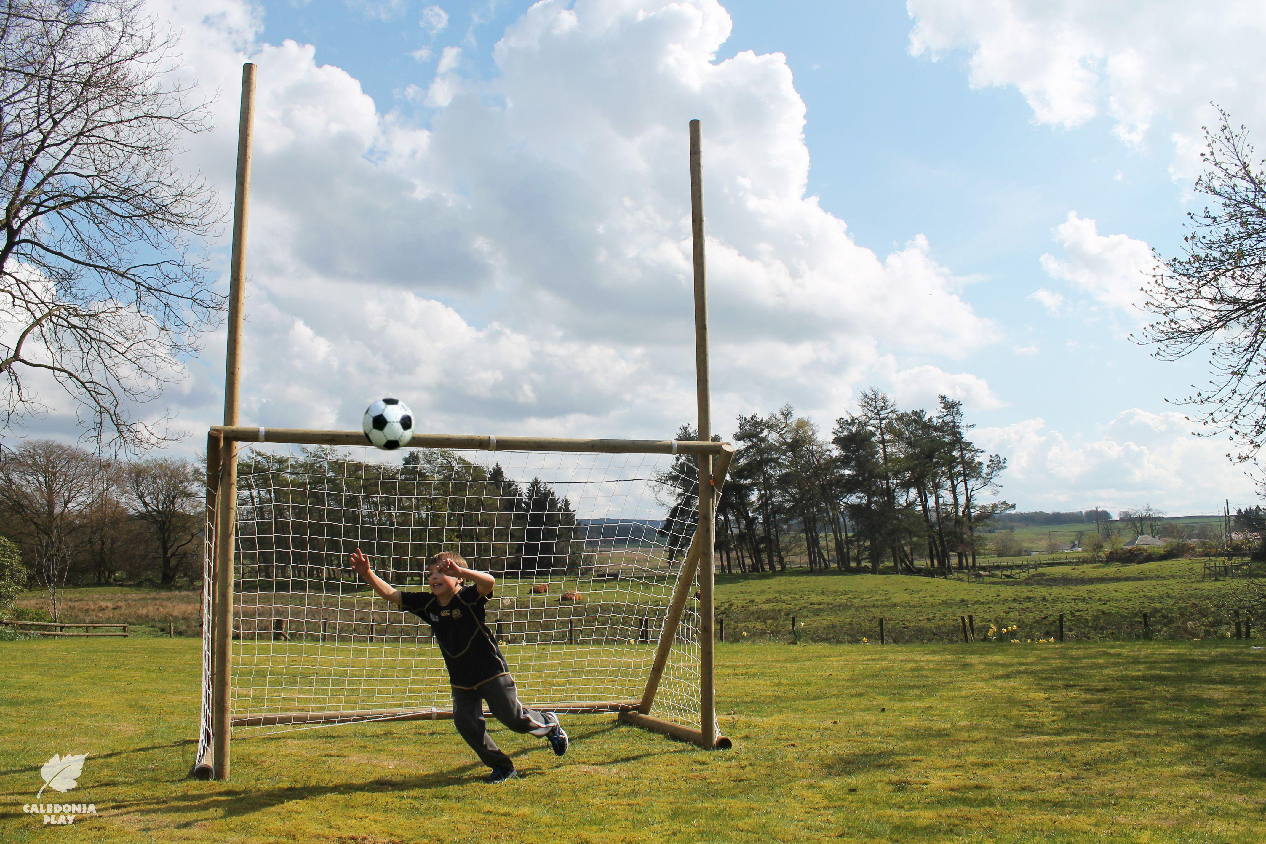 Wooden garden rugby goal posts. | Outdoor play area ...
