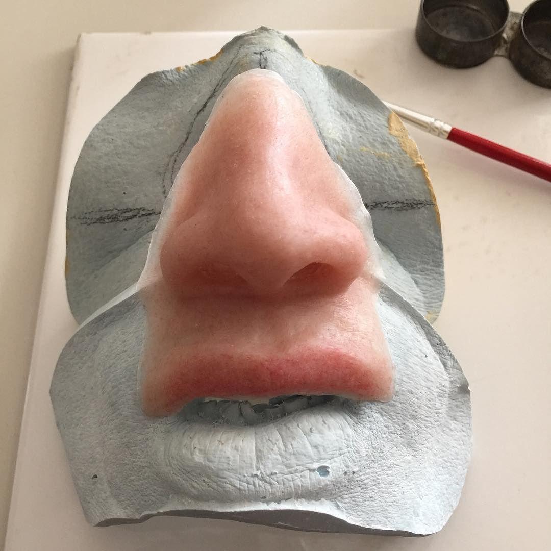 Ready to stain #anaplastology #maxillofacial #prosthetics #philippines Prosthetic Makeup, Senior Project