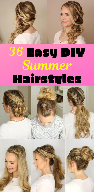 36 Diy Easy Summer Hairstyles Summer Hairstyles For Medium Hair Summer Hairstyles Easy Summer Hairstyles
