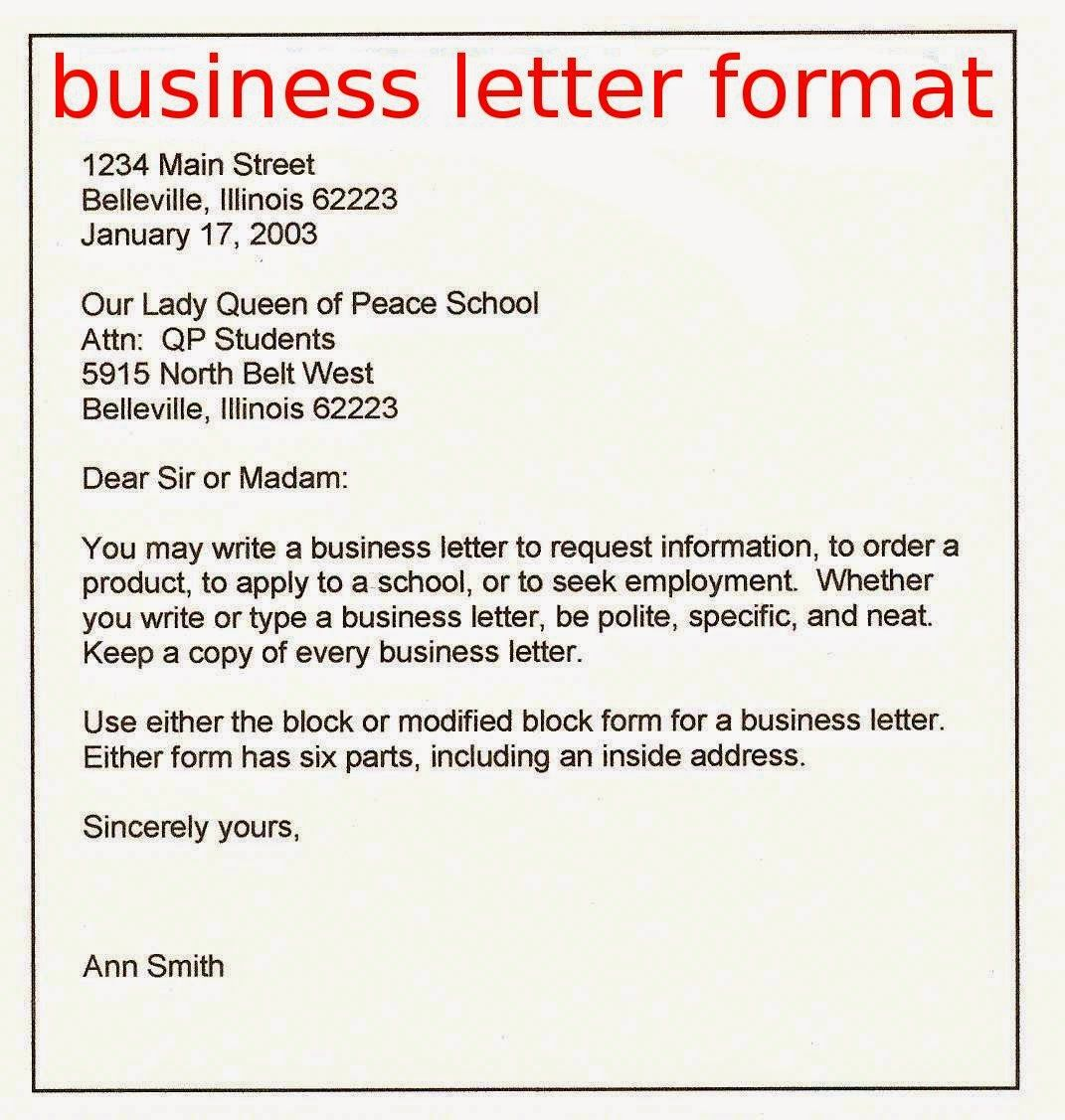 writing business letters format (With images) Business
