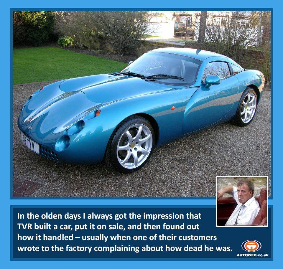 Jeremy Clarkson on TVR | Cars | Pinterest | Jeremy clarkson, Top ...