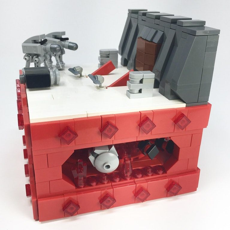 Micro Battle Of Crait Above And Below By Elemental Lego On