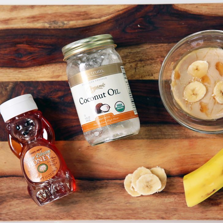 Love This Diy Hairmask For Dry Brittle Ends Honey Banana And