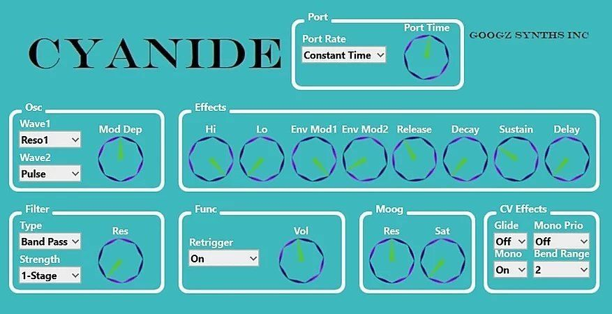 Googz Synths Inc releases Cyanide free plugin synth in