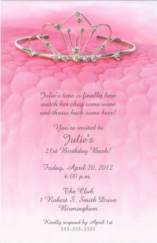 The Tiara Birthday Sweet Sixteen Invitations Changed Mind This Is - 21st birthday invitations ideas templates