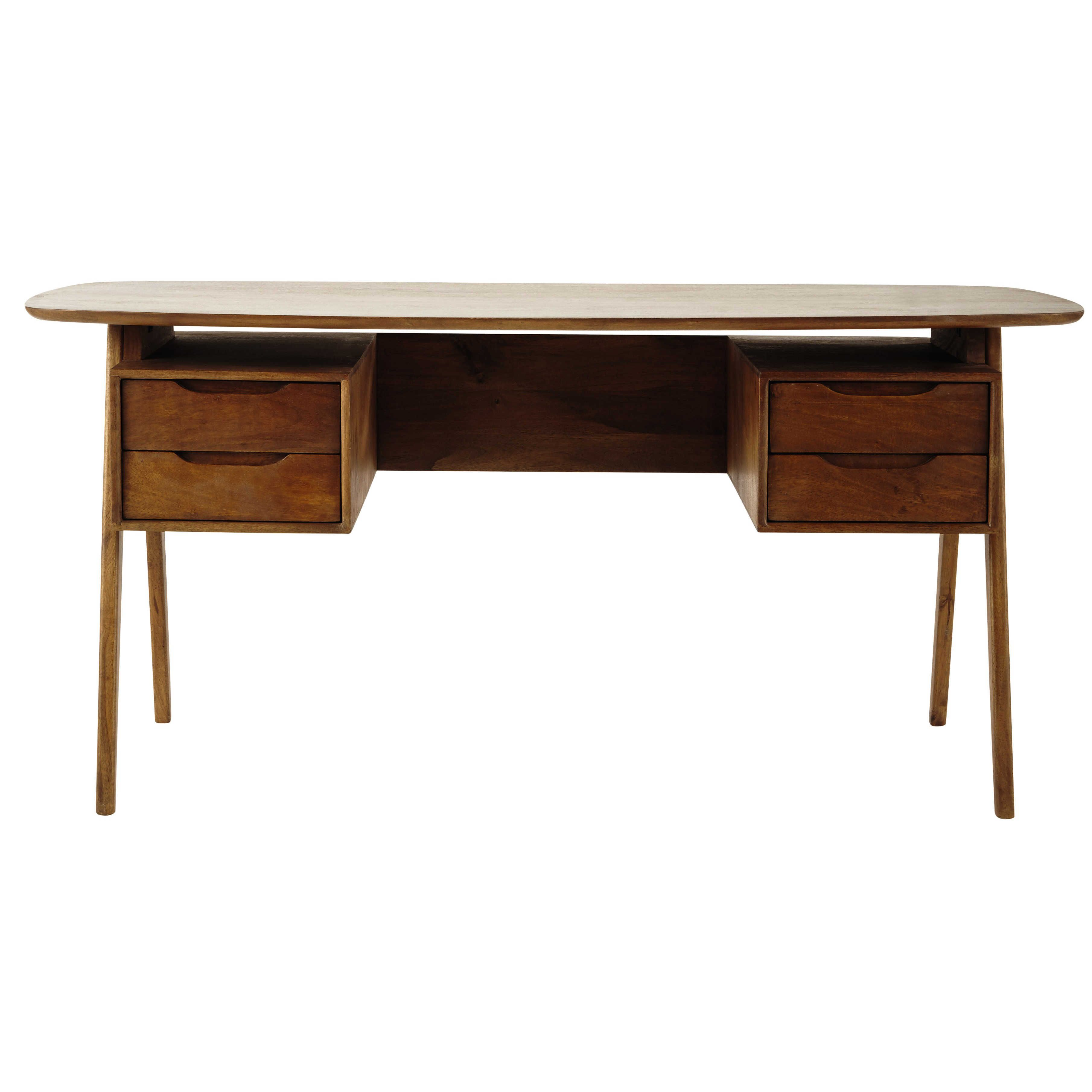 free escritorio vintage de madera de mango an cm janeiro maisons du monde with maison du monde range cd