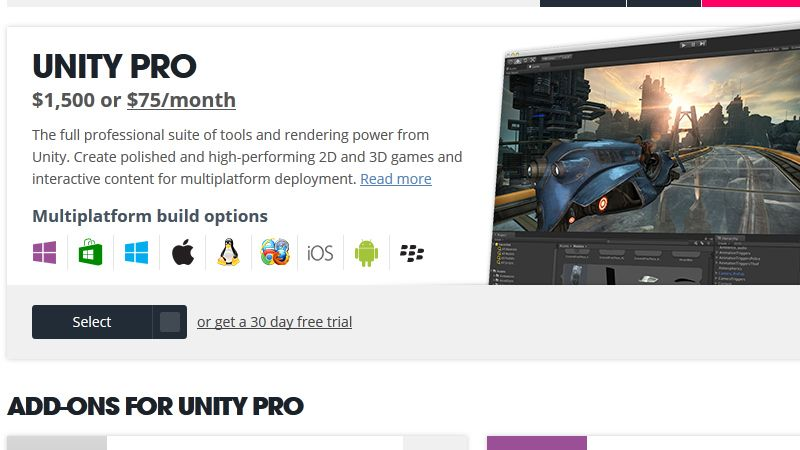 Unity pricing page screenshot   Helpful Animation Resources   Game