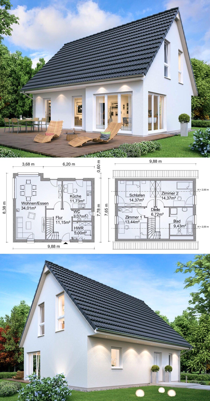 Einfamilienhaus klassisch mit erker satteldach for Einfamilienhaus klassisch