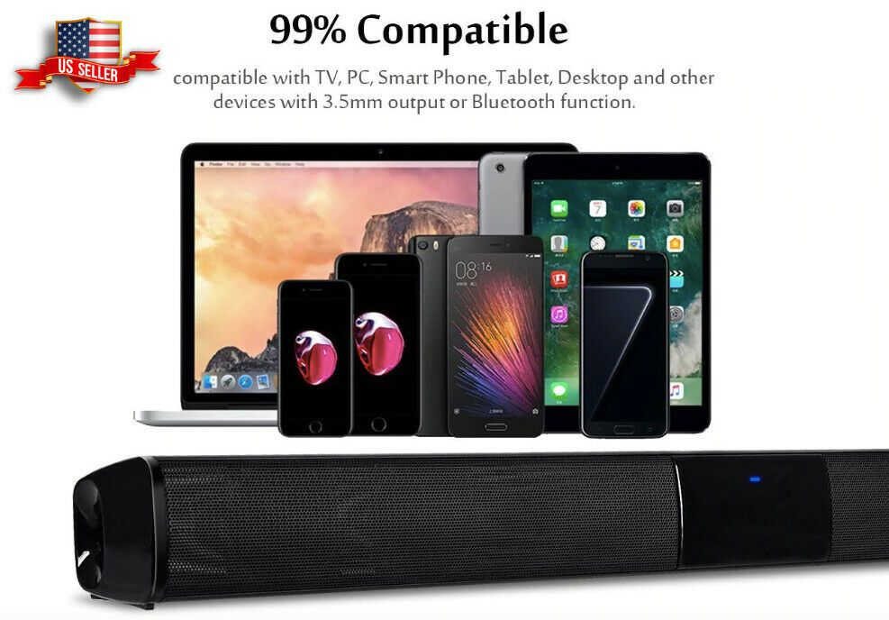 NEW Wireless Sound Bar Home 21 in Theater Speaker TV