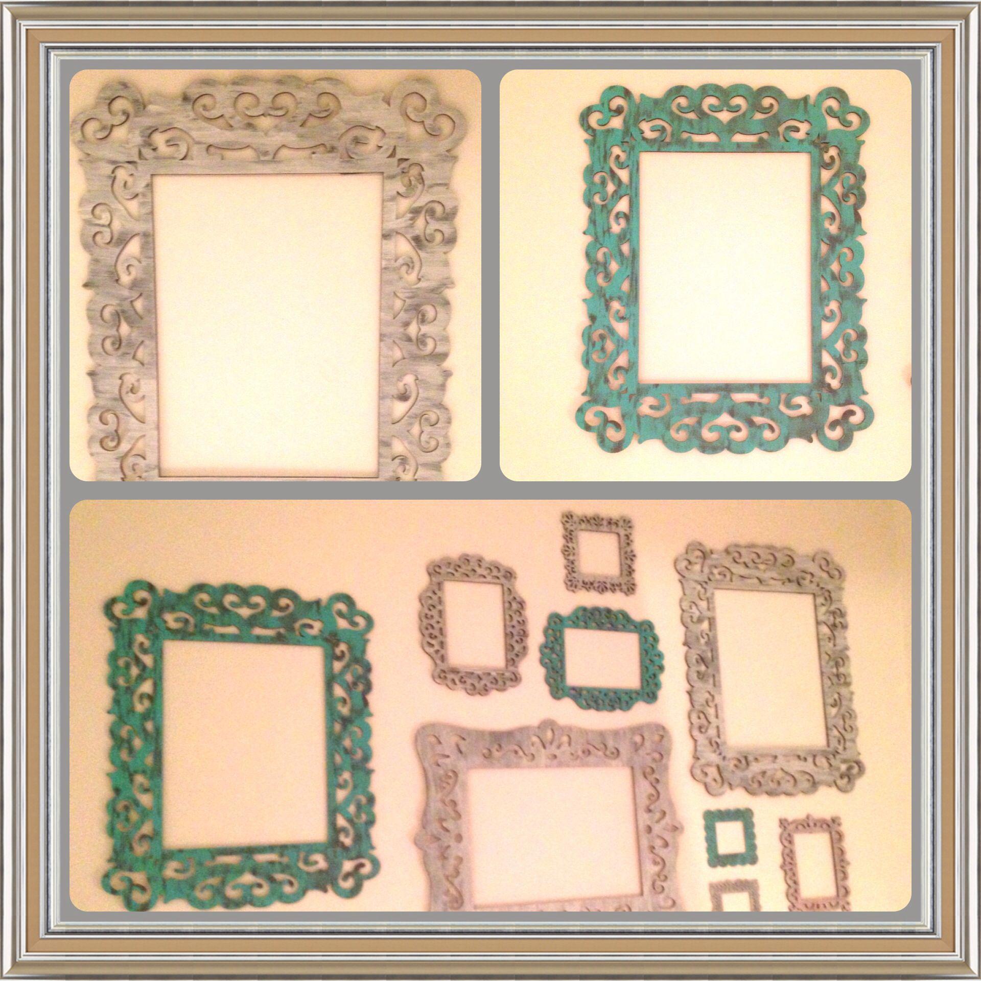 DIY Vintage frames wall