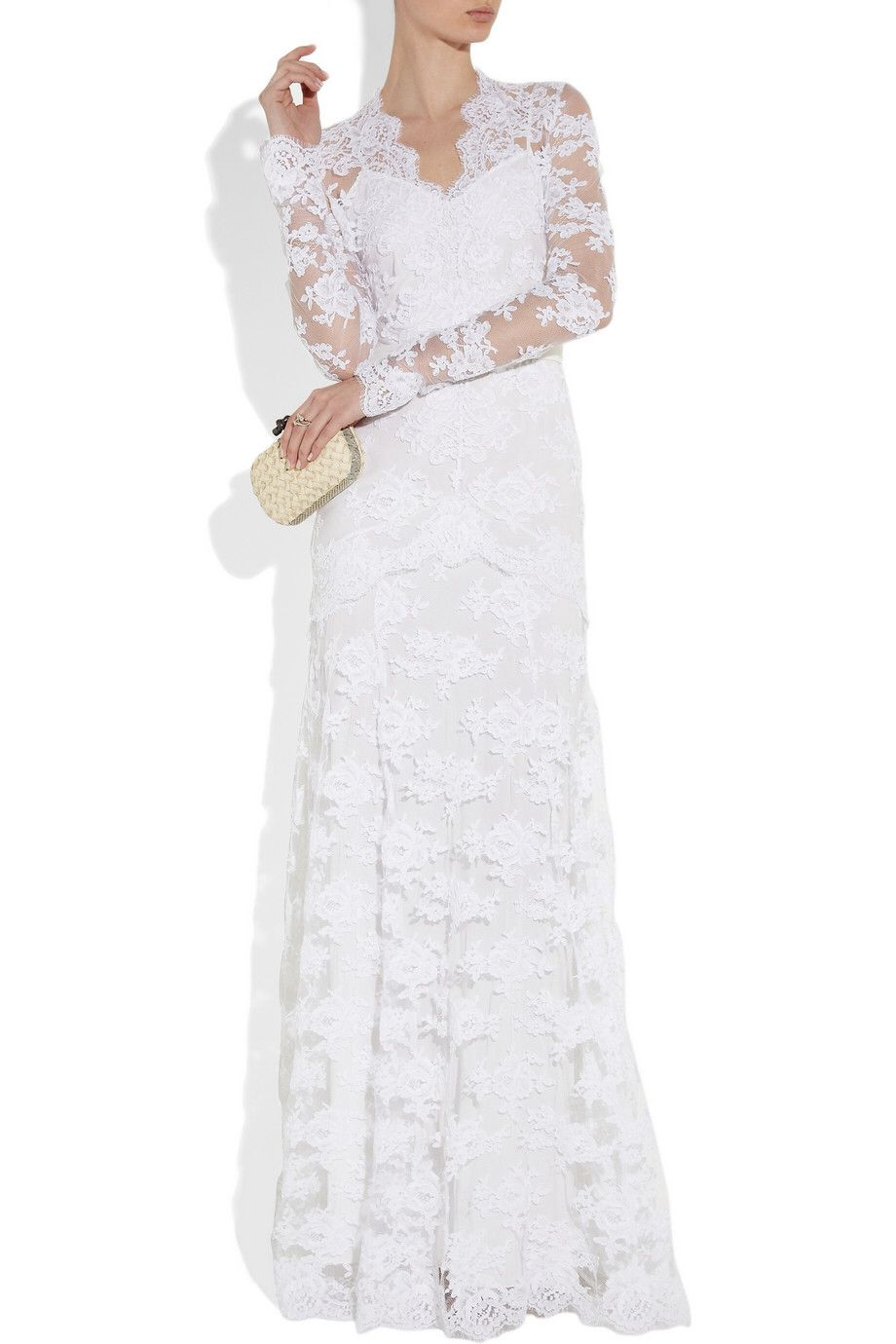 A white, corded lace Temperley London gown.   Designer Gowns ...