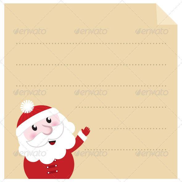 Letter To Santa  Old Paper Parchment Vector  Font Logo Fonts