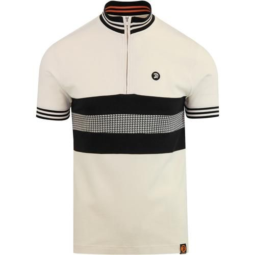 Trojan records ecru zip front top | Polo t shirts, Clothes
