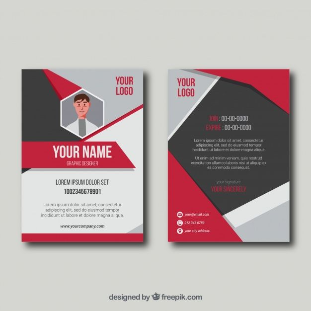Id Card Template Id Card Template Card Template Template For Id