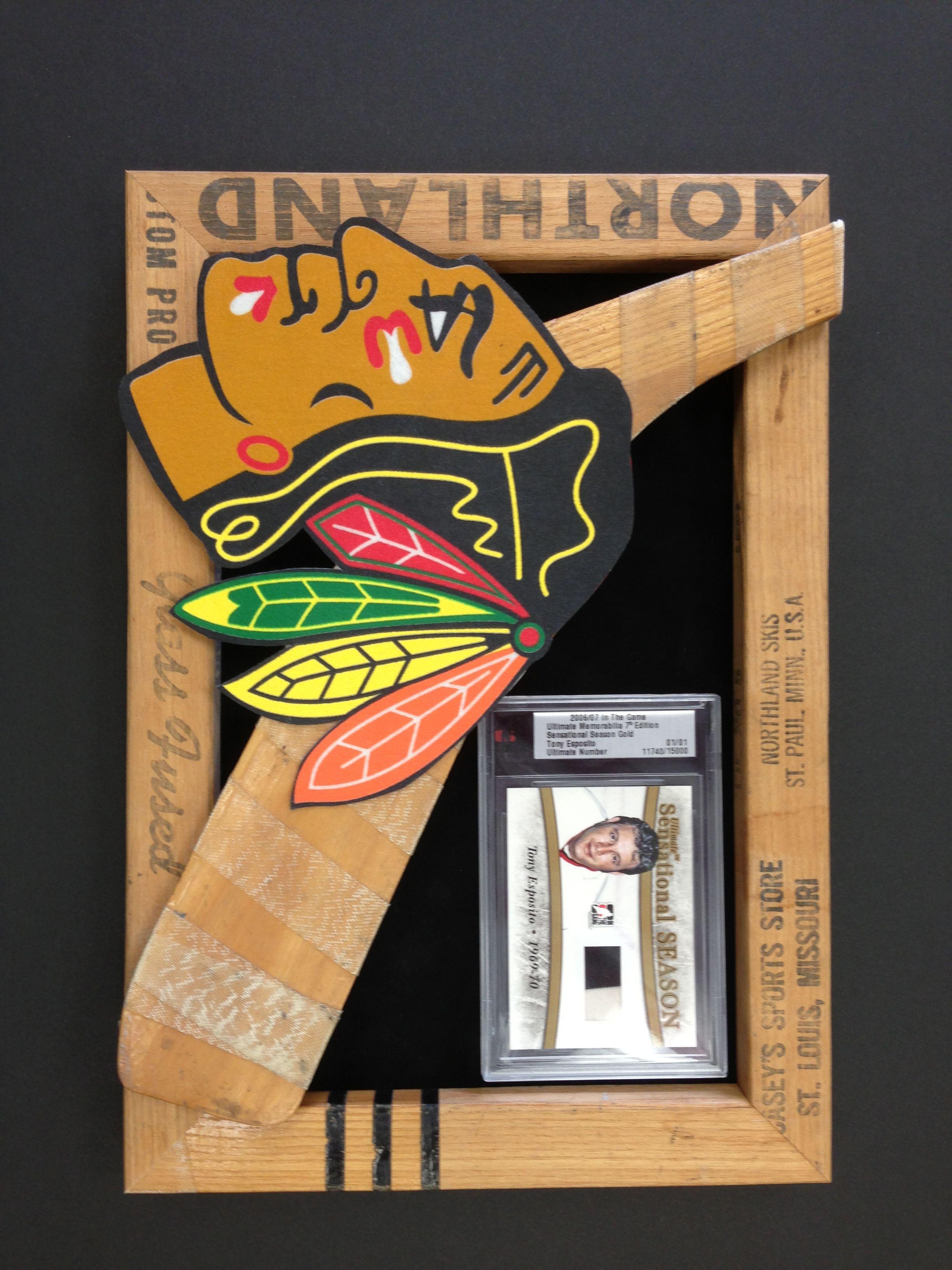 Hockey stick frame from the Chicago Blackhawks !   Custom Sports ...