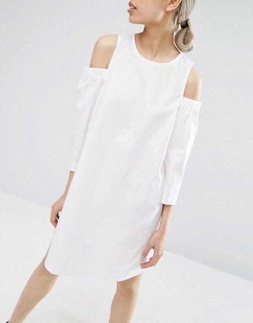 ASOS | ASOS Cold Shoulder Cotton Swing Dress