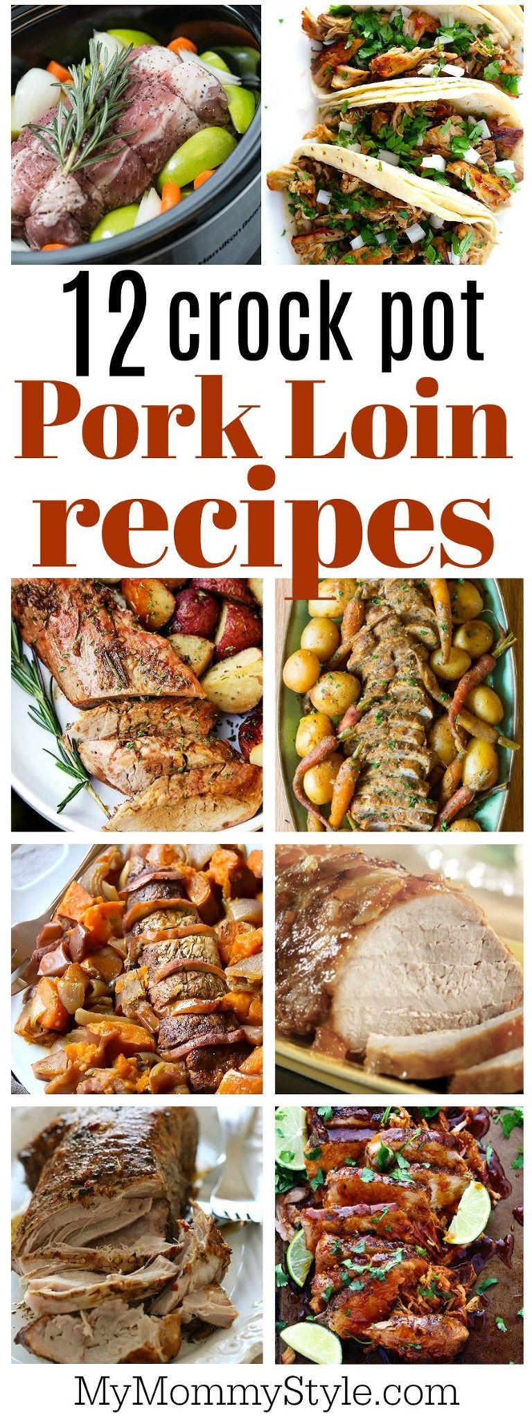 crock pot pork loin recipes